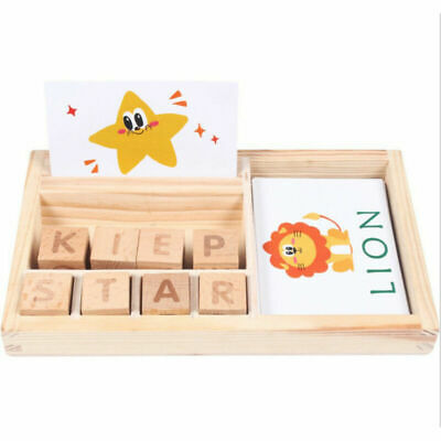 Wooden Montessori Learning Resources Word Puzzle Spelling Board Family Set gift