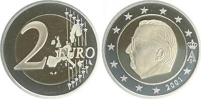 Belgium Currency Coin 2001 Proof ( Pf, Proof) Rare Year