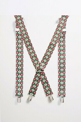 Next Men's Green Christmas Braces with Baubles