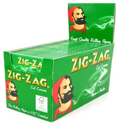 Zig Zag Green Rizla/Rolling Papers 16 Packs X 50 Papers