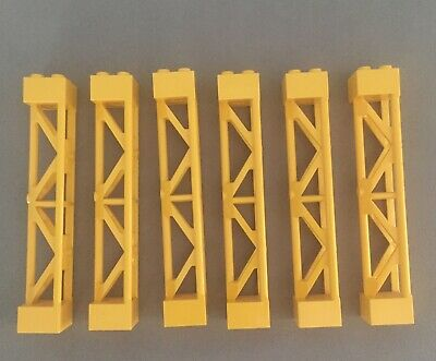 LEGO 4 x Pfeiler Stütze schwarz Black Support 2x2x10 Type 1 Solid Top 30517