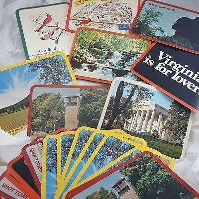 Virginia Postcard lot 37 Vintage travel over sized souvenir tourist Lovers VA