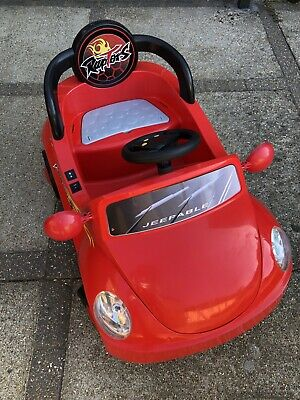Argos Chad Valley Kids Ride - On Red Car 6V Battery Powered - Outdoor Toy