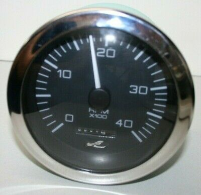 Sea Ray Diesel Tachometer 0-4000 RPM With Analog Hourmeter - 86274