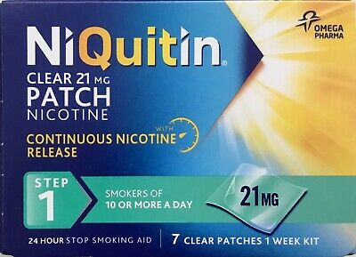NiQuitin CQ 24 Hour Clear Patches - Step 1 7clear patchers 1 week kit
