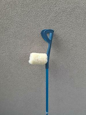 Underarm Crutches Sheepskin Cover - Hand Grip Pad 2 Parts YELLOW