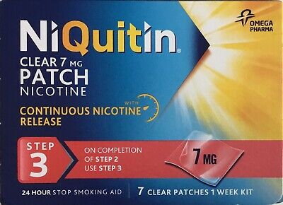 NiQuitin Clear 7 mg 7 Patches - Step 3  7clear patchers 1 week kit