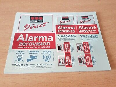 Kit 7 pegatinas securitas Direct. Modelo 2019 Alarma Verisure