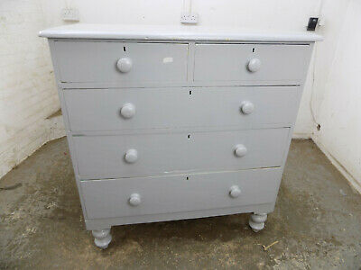 antique,victorian,painted,grey,chest of drawers,2 over 3,tall legs,drawers,