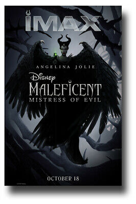 "Maleficent 2 Poster - 11""x17"" Mistress of Evil Imax SameDay Ship from USA"