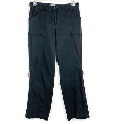 Title Nine Cargo Pants Straight Full Length Hiking Outdoors Stretch Black 8 Flaw