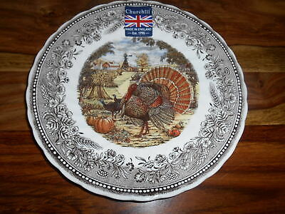 4 CHURCHILL Thanksgiving Turkey Salad Plates England
