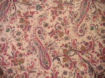 RALPH LAUREN Chaps LARGE OVAL Printed Tablecloth AUTUMN PAISLEY Fall Colors NICE