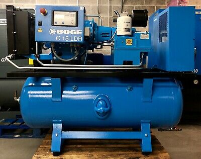 Boge C15LDR-350 Receiver Mounted Rotary Screw Compressor With Dryer! 61.4 Cfm!