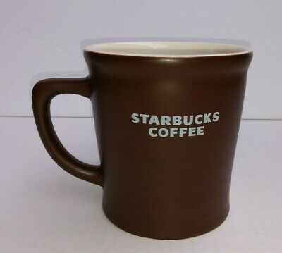 Starbucks Coffee Abbey Large 16 oz Brown White Ceramic Mug Coffee Cup 2008