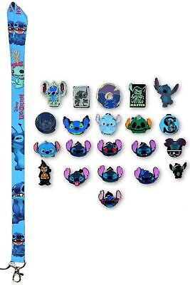 Stitch Lanyard w/ 10 Lilo & Stitch Themed Disney Trading Pins Starter Set ~ NEW