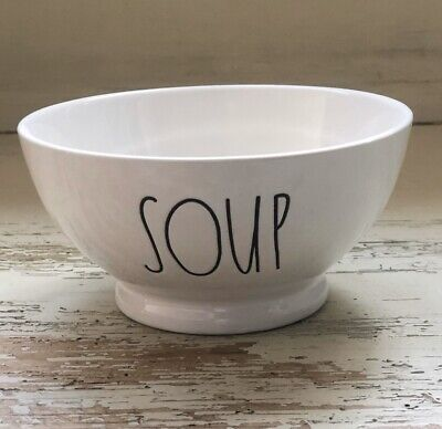"""Rae Dunn Cereal Size Bowl """"SOUP"""" New! VHTF! *ALWAYS LOW Shipping!* 🥣🥄"""