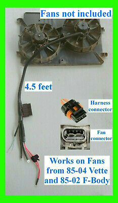 Retrofit 2 Speed Electric Dual Fan Control Harness Great 4 LSX Swaps Projects