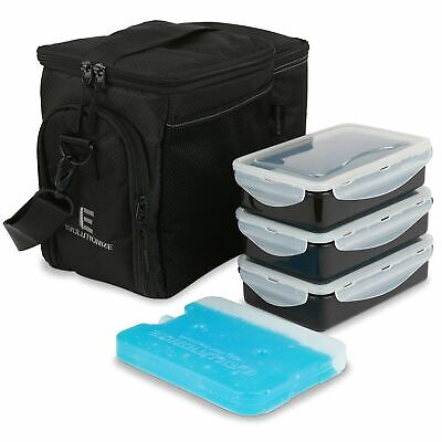 Evolutionize Meal Prep Insulated Lunch Bag Cooler Bag Patented Lunch Box inclu..