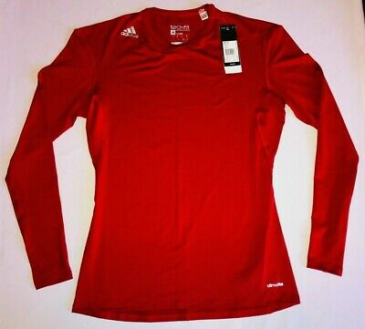 Adidas Techfit Base Layer Mens Red Compression Climalite Team GB Size S L XL 3XL