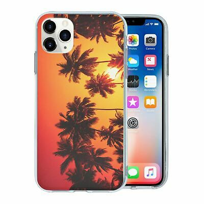 For Apple iPhone 11 PRO MAX Silicone Case Landscapes Palm Trees - S1000