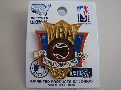 NBA Houston Rockets 1995 World Champions Pin Imprinted Products Basketball Stars