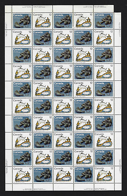 Canada Stamps — Full Pane of 50 — 1977, Inuit Hunting #749a (748-749) (A) — MNH
