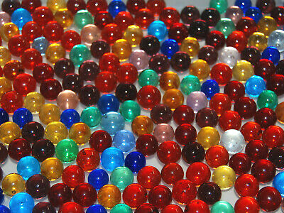 50 Mixed Transparent Clearie Marbles Made In USA Lot # MIXED FREE SHIPPING