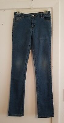 Faded Glory Adjustable Waist Denim Blue Jeans in Girl's size 16
