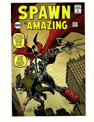 Spawn #221 (2012, Image) NM- Todd McFarlane Amazing Fantasy #15 Homage Cover