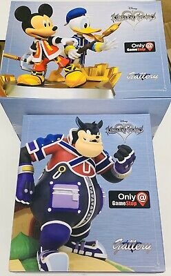 Disney Kingdom Hearts Mickey Mouse Donald Duck + Pete Gallery Figure Statue Set
