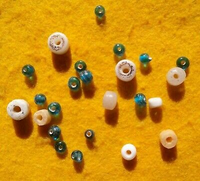 Authentic Indian Artifact 24 Glass Trade Beads Oregon Field Finds Arrowheads