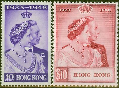Hong Kong 1948 RSW set of 2 SG171-172 V.F Lightly Mtd Mint