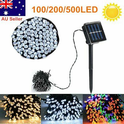 100/200/500 LED Solar String Fairy Lights Outdoor Party Xmas Lamp Waterproof AU