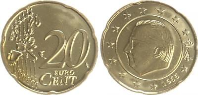 Belgium 20 Cent Currency Coin 1999 Mint State Rarely, Kleinstauflage
