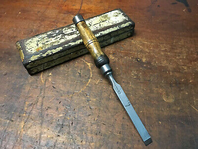 "Vintage F.Woodcock 1/2"" Mortise Chisel Sheffield England"