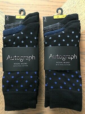 Ex M&S Autograph and Luxury Collections Men's Socks Combined RRP £30