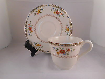 Tea Coffee Cup & Saucer, Royal Doulton China, Kingswood Pattern (TC1115) Flowers