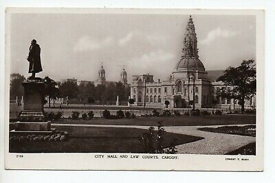 City Hall and Law Courts, Cardiff, Glamorgan by Ernest T Bush