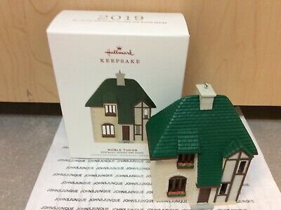 Noble Tudor Hallmark Ornament 2019 New #36 In Houses And Shop Series