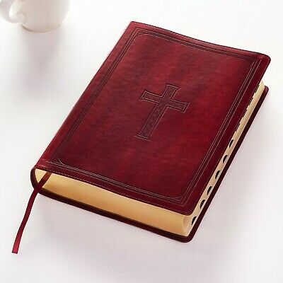 The Holy Bible King James Version Super Giant Print,INDEXED ,Red Letter,Burgandy
