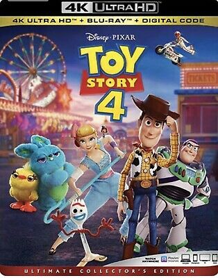 Toy Story 4 4k Ultra HD + Bluray New + Slipcover + Free Shipping