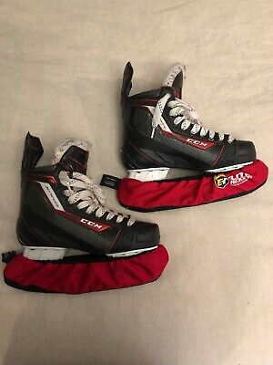 CCM JetSpeed 290 Ice Hockey Skates with Skate Guards - Great Condition!