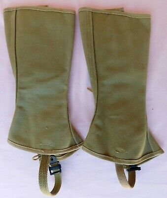 WWII Army Boot Leggings Size 2-Regular, 13″ High, Dated 1943 Olive Drab Canvas