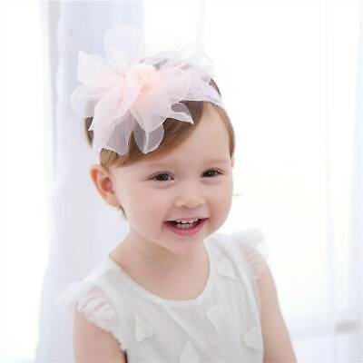 1pc Baby Mesh Lace Flower Peonies Headband Head wear Girls Party Hairband Gifts