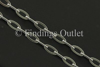 Sterling Silver 925 Italy 2.85mm Oval Drop Necklace Solid Nice Chain