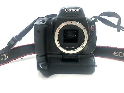 Canon EOS Rebel T3i 18.0MP DSLR Camera - Black (Body Only w/ Battery Grip) #N3