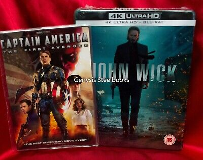 JOHN WICK 4K/ BLU-RAY Zavvi Limited Edition Steelbook + Marvel Art Cards NEW