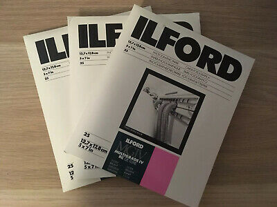 ilford photo paper (25 Pack X 3)