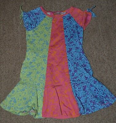 Hanna Andersson Pink Blue Green Floral Tunic Legging Top Girls size 110 (5)